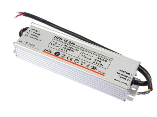 LED zdroj 12V 240W HPS-12-240 Záruka 5 let