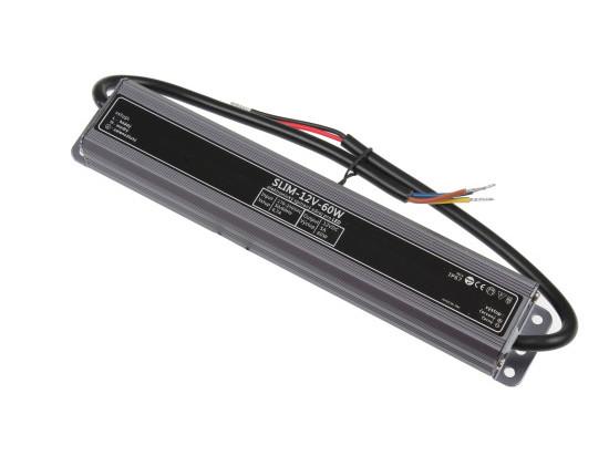 LED zdroj 12V 60W IP67 SLIM-12V-60W
