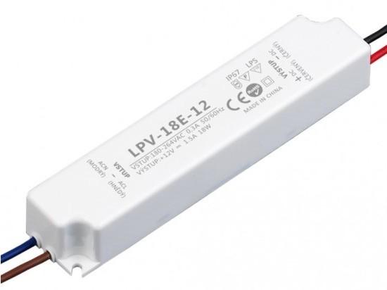 LED zdroj 12V 18W - LPV-18E-12