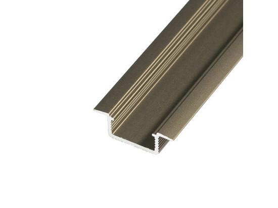 LED profil V5B - vestavný bronzový