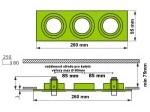 Podhledový rámeček D10-3 hliník