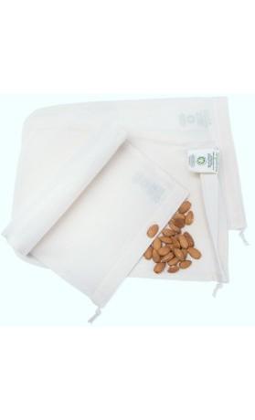 Casa Organica Sáček z biobavlny na výrobu rostlinného mléka 30x20 cm
