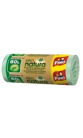 Fino Eko Natura Pytle na odpad 60 l rozložitelné do 2 let