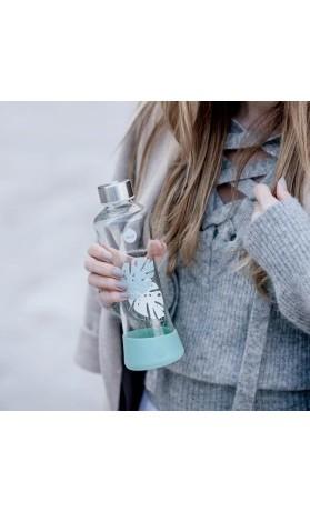 Equa Skleněná lahev z borosilikátového skla Esprit Monstera