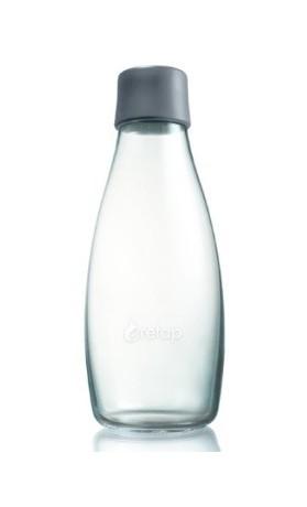 ReTap Skleněná lahev na vodu 0,5 l - šedá