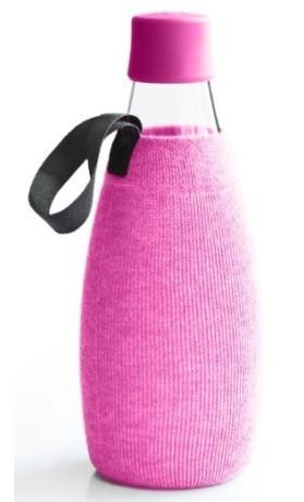 ReTap Obal na lahev 0,8 l - růžový úplet