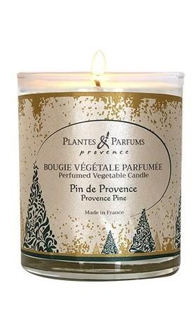 PLANTES & PARFUMS DE PROVENCE Řemeslně vyráběná sójová svíčka s vůní Borovice 75 g
