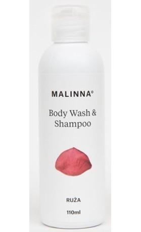 MALINNA° Šampon a sprchový gel Růže