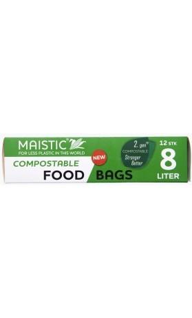 MAISTIC Kompostovatelné potravinové sáčky 2. generace do lednice a mrazáku /8 l /