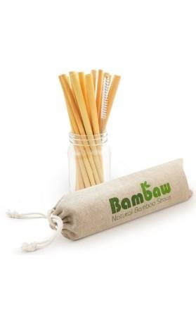 Bambaw Ekologická bambusová brčka v sadě 12 ks délka 14 cm