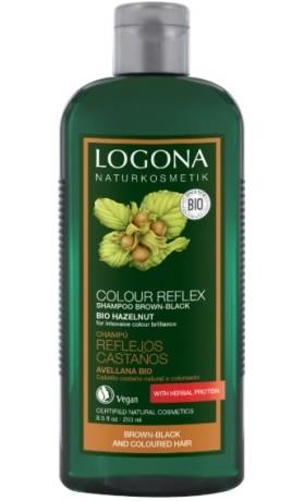 Logona Color Care BIO Šampon Ořech na barvené vlasy pro tmavé vlasy