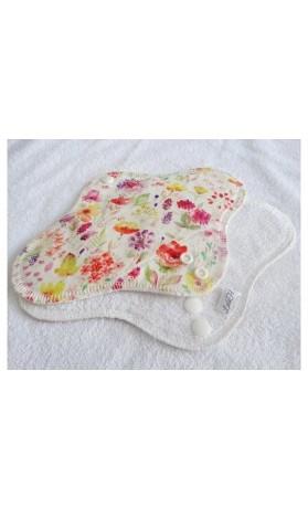 LalaH Denní menstruační vložka látková BIO a PUL akvarel  (24 cm)