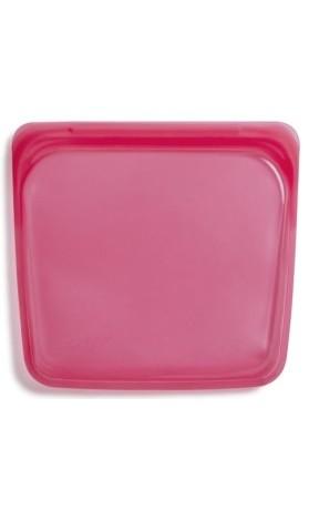 Stasher sandwich Raspberry - silikonový sáček 18 x 19 cm