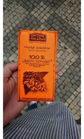 Chocolaterie Willy a Pauli BIO Hořká čokoláda Santo Domingo 100%