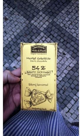 Chocolaterie Willy a Pauli Hořká čokoláda Santo Domingo 54 % se slaným karamelem