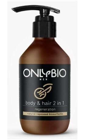 OnlyBio Regenerační sprchový gel a šampon pro muže