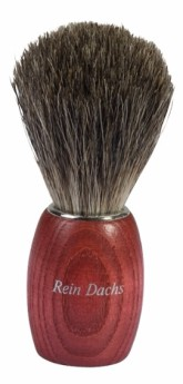Přírodní štětka na holení - bukové dřevo tmavé štětinky Redecker