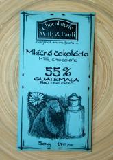 BIO Mléčná čokoláda Guatemala 55%
