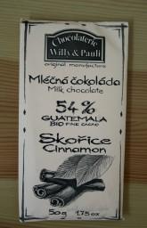 BIO Mléčná čokoláda Guatemala se skořicí 54%