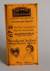 BIO Hořká čokoláda Guatemala 67% s perníkovým kořením