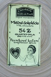 BIO Mléčná čokoláda Guatemala 54% s perníkovým kořením