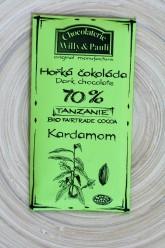 Chocolaterie Willy a Pauli BIO Hořká čokoláda Tanzanie 70% s kardamonem
