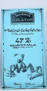 BIO Mléčná čokoláda Guatemala 47%