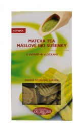 Matcha tea máslové bio sušenky Biopekárna Zemanka
