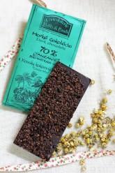 Chocolaterie Willy a Pauli BIO Hořká čokoláda Tanzanie 70% s kousky kakaových bobů
