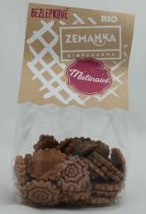 Biopekárna Zemanka Bezlepkové Pohankovo-malinové bio sušenky