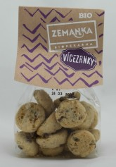 Biopekárna Zemanka Vícezrnné bio sušenky s čokoládou a vločkami
