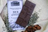Chocolaterie Willy a Pauli BIO Mléčná čokoláda Tanzanie 54% s levandulí