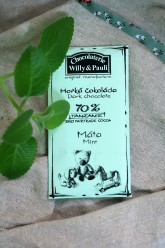 Chocolaterie Willy a Pauli BIO Hořká čokoláda Tanzanie 70% Máta 50 g