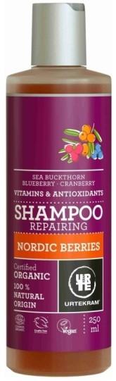 Urtekram Šampon se severskými bobulemi na poškozené vlasy BIO