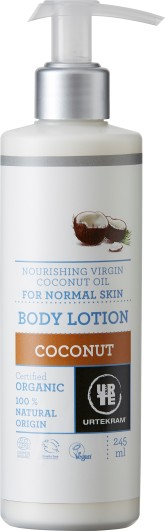 Urtekram Vyživující tělové mléko s kokosovým olejem BIO 245 ml