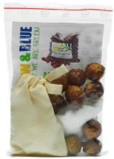 Yellow&Blue Mýdlové ořechy na praní + Puer – testovací sada praní VZOREK