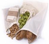 Casa Organica Sada sáčků na potraviny z biobavlny - malá (3 typy) 3 ks