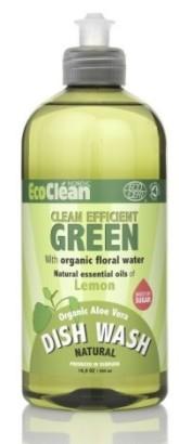 Eco Clean Prostředek na mytí nádobí s vůní Citrón