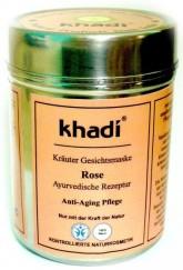 Khadi pleťová bylinná maska RŮŽE - anti-aging proti stárnutí pleti
