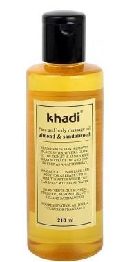 Khadi pleťový a tělový olej SANTALOVÉ DŘEVO & MANDLE