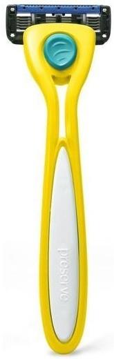 Preserve Holicí strojek z recyklovaného plastu Shave 5 (vč. 1 hlavice) - heřmánkově žlutý