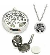 Aromadifuzér - náhrdelník chirurgická ocel - vzor strom života