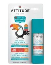 Attitude Dětská 100 % minerální ochranná tyčinka na obličej a rty (SPF 30)