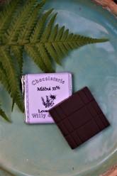 Chocolaterie Willy & Pauli Mini čokoláda mléčná Tanzanie 54% s levandulí (4,5 g)