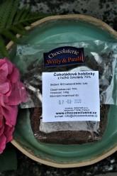 Chocolaterie Willy & Pauli BIO Čokoládové hoblinky – strouhaná hořká 70% čokoláda různé druhy v sáčku