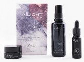 Inlight Bio cestovní sada Bio čisticí balzám 15 ml, Bio květové tonikum 50 ml a Bio denní olej na obličej 10 ml