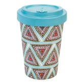 Woodway Bambusový kelímek na kávu AZTEC BLUE M