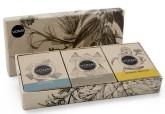 Vonai Dárkové balení 3 přírodních mýdel pačule, máta, citrus 300 g