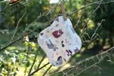 LalaH Slipová menstruační vložka látková PUL / BIO zvířátka (20 cm)
