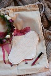 LalaH Denní látková menstruační vložka BIO beránek nepromokavá (25 cm)